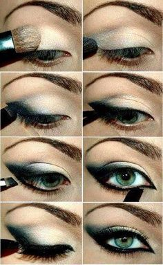 outline the eyes, makeup
