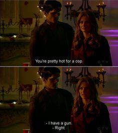 """You're pretty hot for a cop"" #Castle"