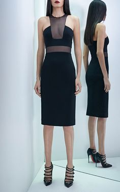 Power Stretch Viscose And Organza Dress by Cushnie et Ochs for Preorder on Moda Operandi
