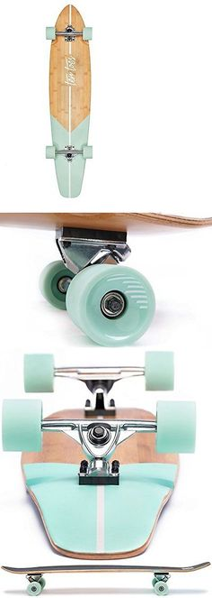 Longboards-Complete 165942: Ten Toes Board Emporium Zed Bamboo Longboard Skateboard Cruiser 44In Aqua Fishta -> BUY IT NOW ONLY: $69.99 on eBay!
