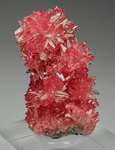 Rhodochrosite From N'Chwaning Mine, Kuruman, Northern Cape Prov. credit: DI Anton Watzl Visit Amazing Geologist for more.