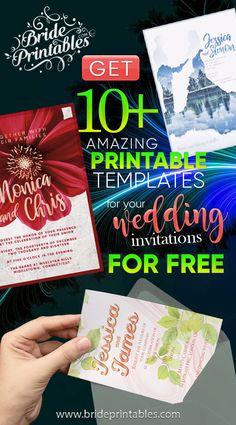 Free Printable Wedding Invitations, Destination Wedding Invitations, Vintage Wedding Invitations, Custom Invitations, Plan Your Wedding, Wedding Tips, Wedding Planning, Printable Templates, Free Printables