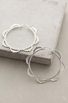 Frondescence Hoops - anthropologie.com