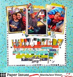 """Paper Issues on Instagram: """"@scrappymandajane sprinkled her page with Nuvo drops and plenty of birthday love! She's on the blog today to give you all of the details!…"""""""