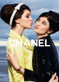 Kendall and Kylie Jenner, 60's photo shoot, beehives + bows :)