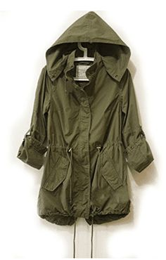 An appealing outfit: military jacket women military jacket women easy leisure girl army green military parka button trench hooded coat jacket UHOPPJX Green Trench Coat, Trench Jacket, Blazer Jacket, Military Trench Coat, Military Jacket Women, Military Style, Military Fashion, Military Green, Women's Jackets
