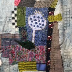 This is another stitching project, it's a collaboration with a friend, this is my piece so far Textile Art, Collaboration, Stitching, Textiles, Fabric, Projects, Inspiration, Costura, Tejido
