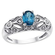 10K White Gold Natural London Blue Topaz Ring Oval 6x4 mm Diamond Accent, size 10 Gabriella Gold http://www.amazon.ca/dp/B00QR58WV6/ref=cm_sw_r_pi_dp_ReBIwb0AVHMJR