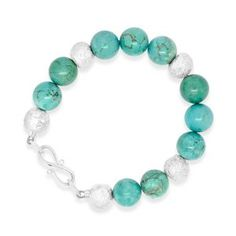 A turquoise bracelet with silver nugget beads. A handmade unusual bracelet from our workshops between London and Brighton Silver Bangles, Silver Beads, Gold Bangle Bracelet, Turquoise Bracelet, Matching Necklaces, Metal Beads, Semi Precious Gemstones, Bracelet Making, Diamond