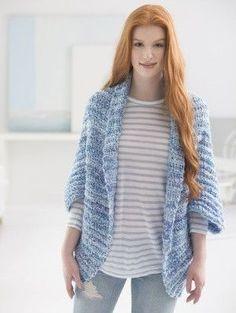 Simple Crochet Shrug (Crochet) - Patterns - Lion Brand Yarn