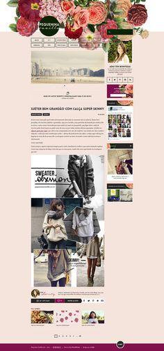 Desenvolvimento do blog em WordPress. Design por xCake.