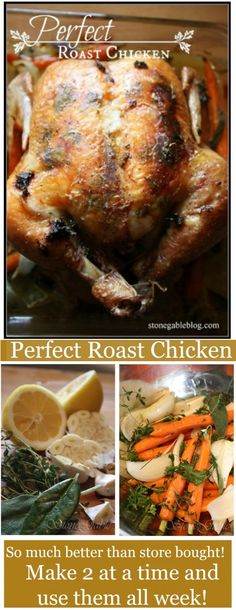 Ina Garten's Perfect Roast Chicken With A StoneGable Twist – c o o k i n g – - Roasted Chicken Roast Chicken Recipes, Turkey Recipes, Game Recipes, Wing Recipes, Recipies, Ina Garten Roast Chicken, Ina Garten Lemon Chicken, Perfect Roast Chicken, Roast Chicken With Stuffing