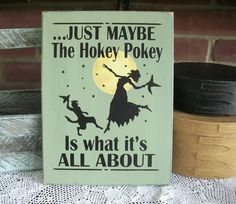 Just Maybe Witch Halloween Wall Sign Wood Hokey by CountryWorkshop