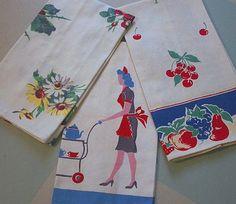 ♥ these vintage tea towels