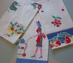 ♥ these vintage tea towels