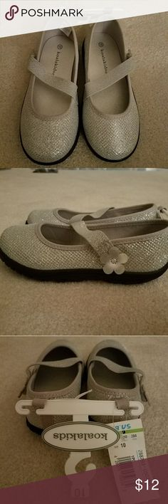 NWT Really cute silver shoes!! Sparkly silver Velcro shoes. NWT Koala Kids Shoes Dress Shoes