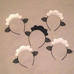 5 sheep lamb ears headband birthday party favors by Partyears