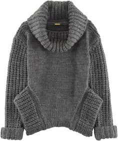Knitted dark gray sweater