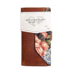 Women's Wallet - Walnut, Floral