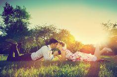 Romantic couple in love kissing while lying on grass. Romantic couple i , Cute Couples Cuddling, Cute Couples Texts, Couples In Love, Romantic Love, Romantic Couples, Libra Women, Sagittarius Man, Love Attitude Status, What Women Want