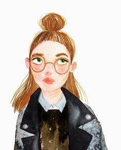 @valearmstrong_illustration's ladies have such lovely expressions in their faces  You can find a selection of her beautiful work shared on the blog today! [link in profile] #valentinaarmstrong #illustration
