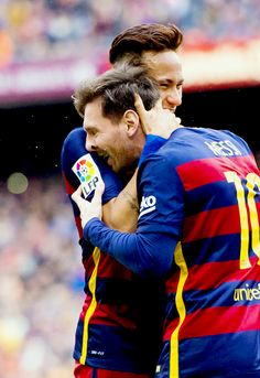 Neymar and Messi Fc Barcelona Neymar, Barcelona Team, Neymar Pic, Messi And Neymar, Lionel Messi, Messi News, Soccer Pictures, Soccer Pics, Real Madrid