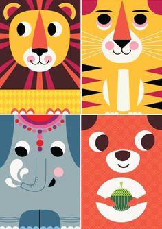 """Adorable """"Hej"""" cards from Lagom Design."""