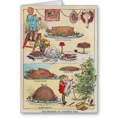 Vintage Delights of Christmas Time Card