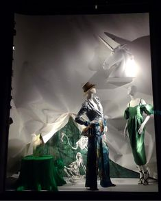 "BERGDORF GOODMAN, Fifth Avenue, Midtown Manhattan, New York City, ""Curtain Call"", photo by Celina Leung, pinned by Ton van der Veer Curtain Call, Shop Windows, Window Displays, Bergdorf Goodman, Window Shopping, Visual Merchandising, Manhattan, New York City, Darth Vader"