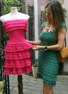 crochet dress by Vanessa Montoro (Osinka.ru)