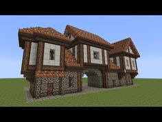Minecraft – Fachwerkhaus – Half-timbered House – … - Mine Minecraft World Casa Medieval Minecraft, Minecraft Modern, Minecraft House Designs, Cool Minecraft Houses, Minecraft Buildings, Minecraft Stuff, Cool Minecraft Creations, Medieval Houses, Minecraft Crafts