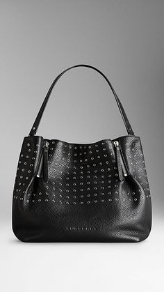 Medium Eyelet Detail Leather Tote Bag  79a5f953bd05f