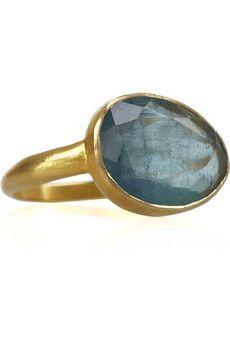 PIPPA SMALL Greek 18-karat gold aqua ring