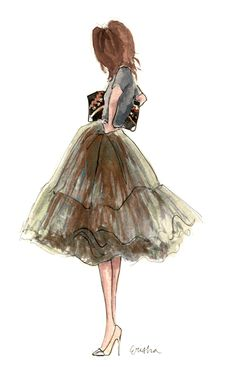 Tulle #fashion #illustration