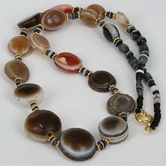Ancient Agate Eye Bead Collection. Great collection of natural agate eye beads - all old beads.