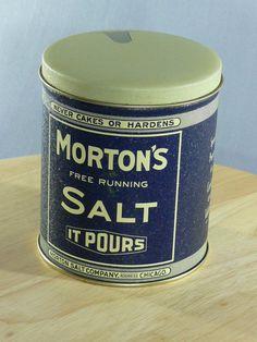 collectible tins | Morton's Salt Collectible Tin - Morton Salt Company Chicago - Bristol ...