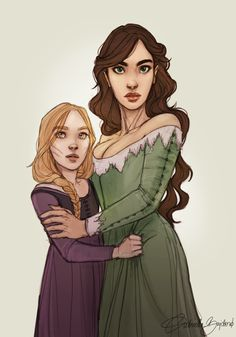 Evangeline and Lysandra by moonlit-sketches. Queen of Shadows. Empire of Storms. Sarah J Maas