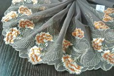 Your place to buy and sell all things handmade Tulle Lace, Lace Fabric, Cutwork, Vintage Wool, Embroidered Flowers, Altered Art, Yards, Lace Trim, Needlework