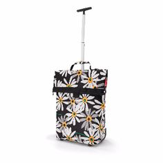 Reisenthel Margarite Shopping Trolley M: The roomy, rolling bag for every day and every use. Comfortable transport on 2 near-effortless rollers. 2-stage telescopic handle tucks away behind a zipper. 1 zipped pocket on the back.
