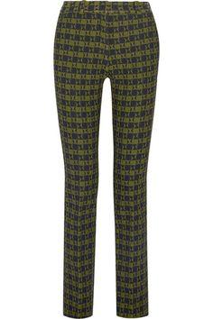 Victoria Beckham   Stretch-jacquard slim-leg pants   NET-A-PORTER.COM
