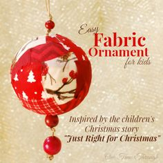 """Looking for a simple, but meaningful Christmas craft to make with your child? Try our easy ornament inspired by the """"Just Right for Christmas"""" kids' story."""