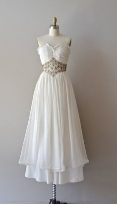 40s wedding dress / vintage 1940s wedding dress / Lagniappe gown