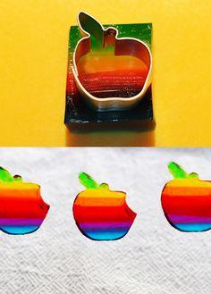 Rainbow Apple Jelly Shots