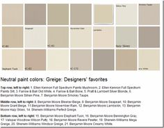 What Colors Are Neutral exterior colors for 1960 houses | house colors, paint swatches and