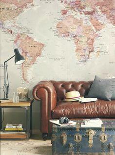loooove the map wall