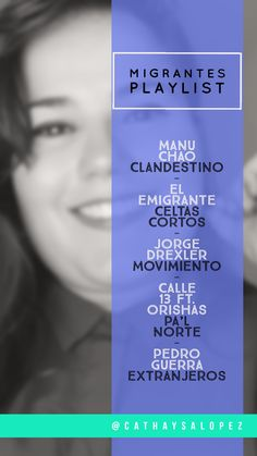 ¿Te gustan mis pines? Sígueme 🦄 #playlist #canciones #cathaysalopez #inspiración #música #migración #mujeres #hombres #vidamejor #viajar #migrar #trabajo #pobreza #esclavitud #18d #migrantes #derechosdelmigrante Manu Chao, Movie Posters, Movies, Calle 13, Human Rights, Traveling, Songs, Men, Women