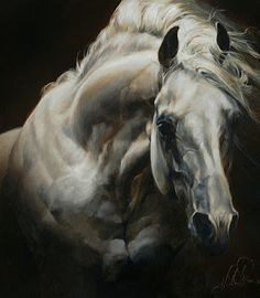 An interview with the incredible Disney Fine Art Artist and Painter Heather Theurer about her artwork, experiences and career. Pretty Horses, Beautiful Horses, Horse Love, Gray Horse, Arte Equina, Horse Artwork, Horse Drawings, Wow Art, Equine Art