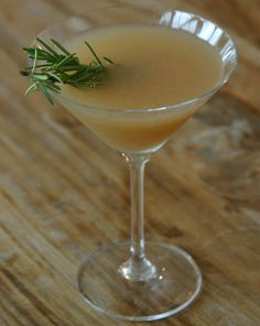 Freckled Italian: Cocktail Testing 101: Rosemary and Pear Martini