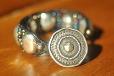 Women's Silver and Purple Beaded Wrap Bracelet by PlethoraGifts, $18.00