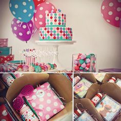 This is for Maggie... Maybe Maylee's bday this year?? Abby & Elmo Birthday Party {and adorable polka dot cake} Favors